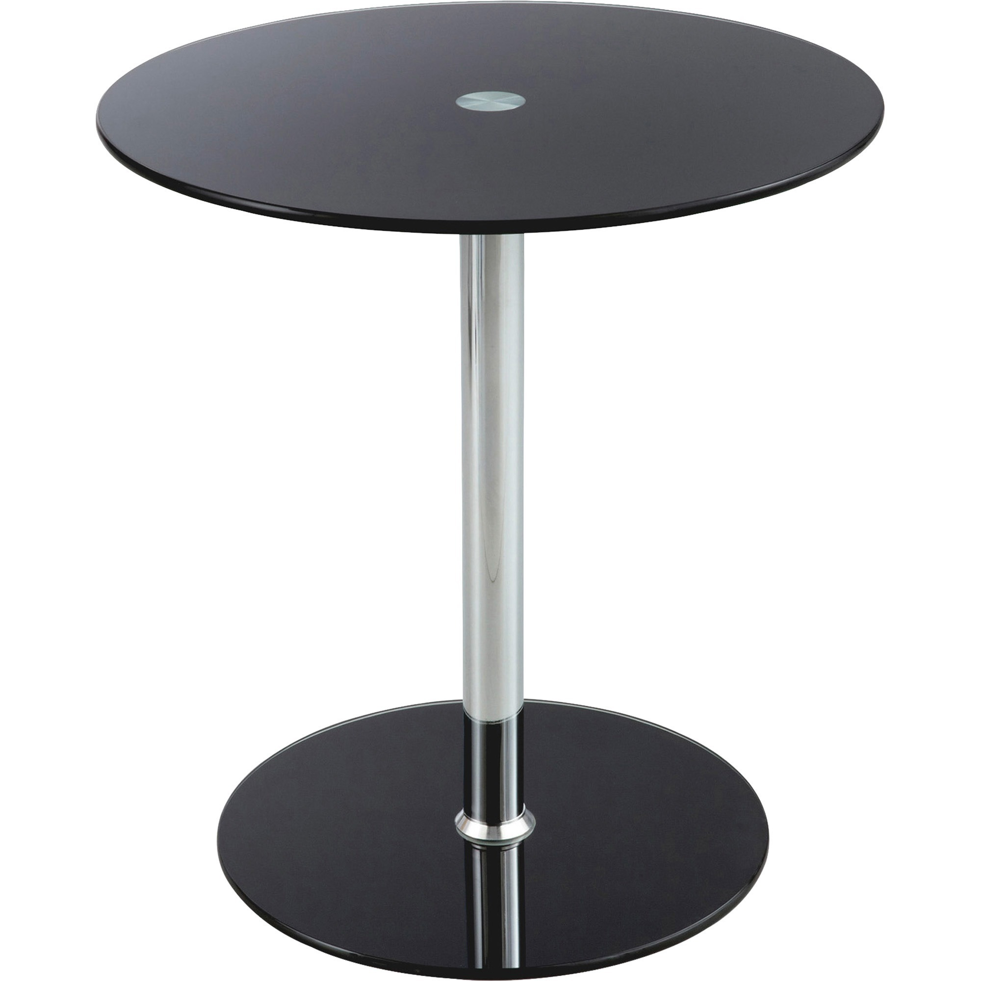 power surge technologies ltd furniture collections accent table with safco tempered glass round top diameter height assembly required black chrome steel tablecloth dining