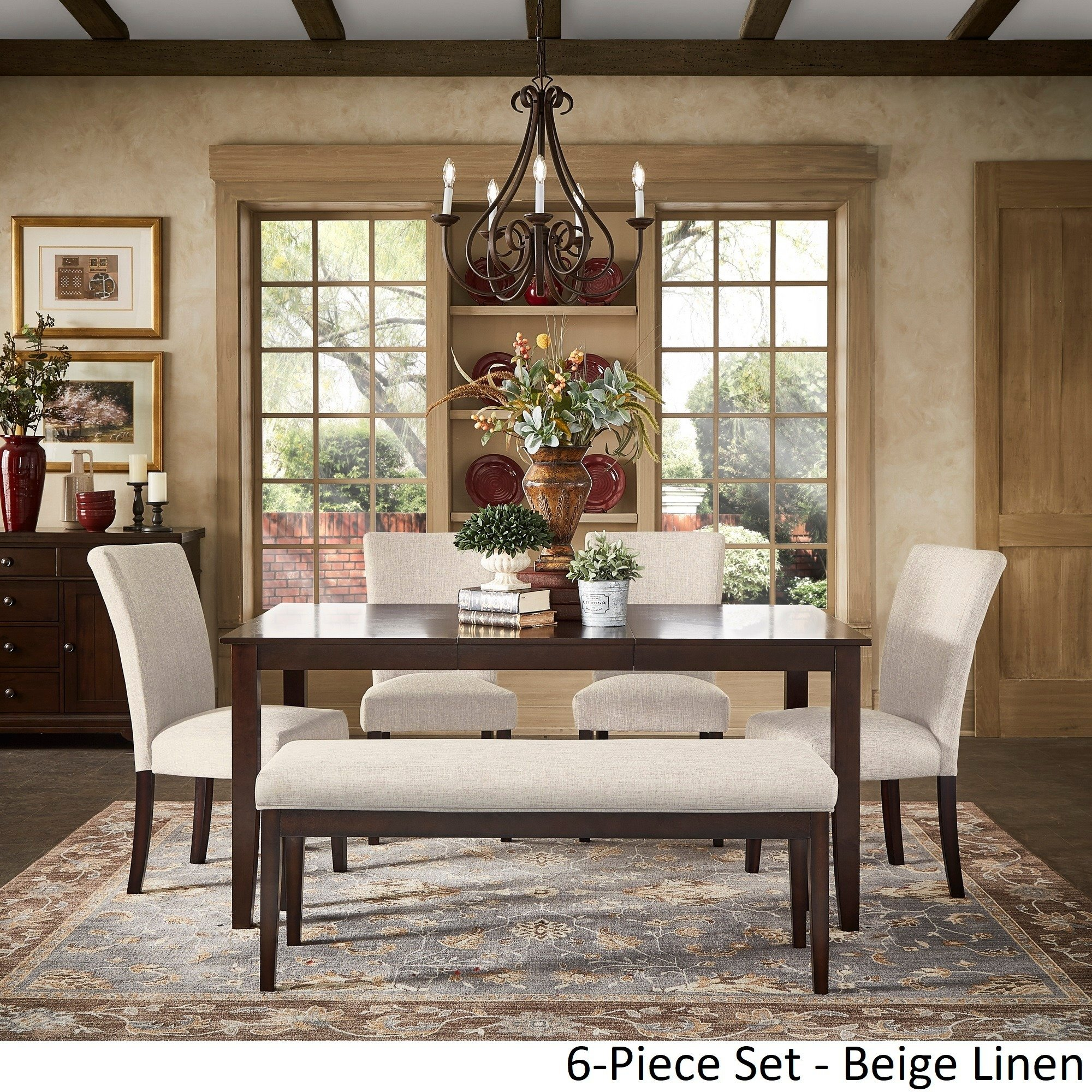 pranzo rectangular inch extending dining table set inspire classic accent pieces free shipping today silver living room accessories bedroom desk wood patio end small grey coffee