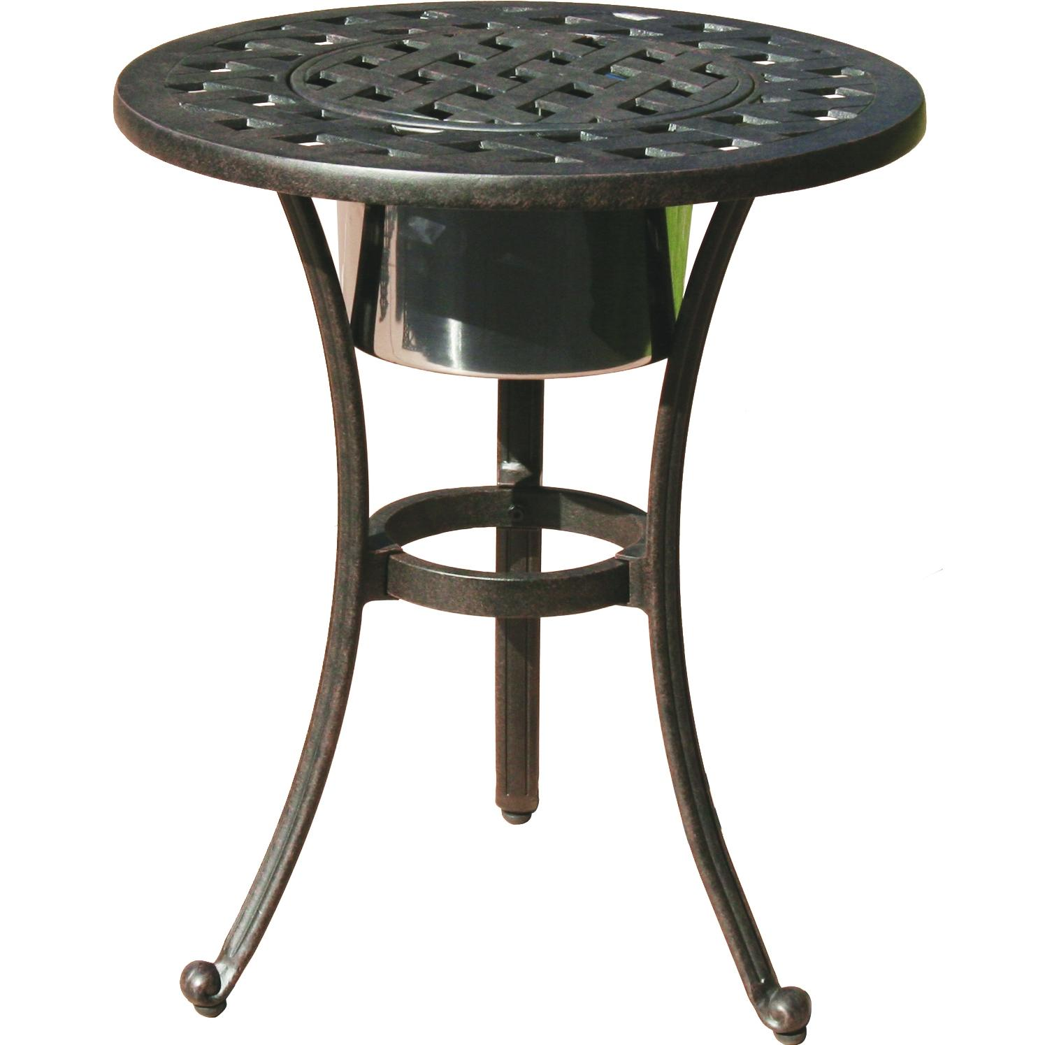 premium outdoor coffee tables the side table with ice bucket darlee series cast aluminum patio end insert round ikea wall cabinets bedroom umbrellas that provide shade wood top