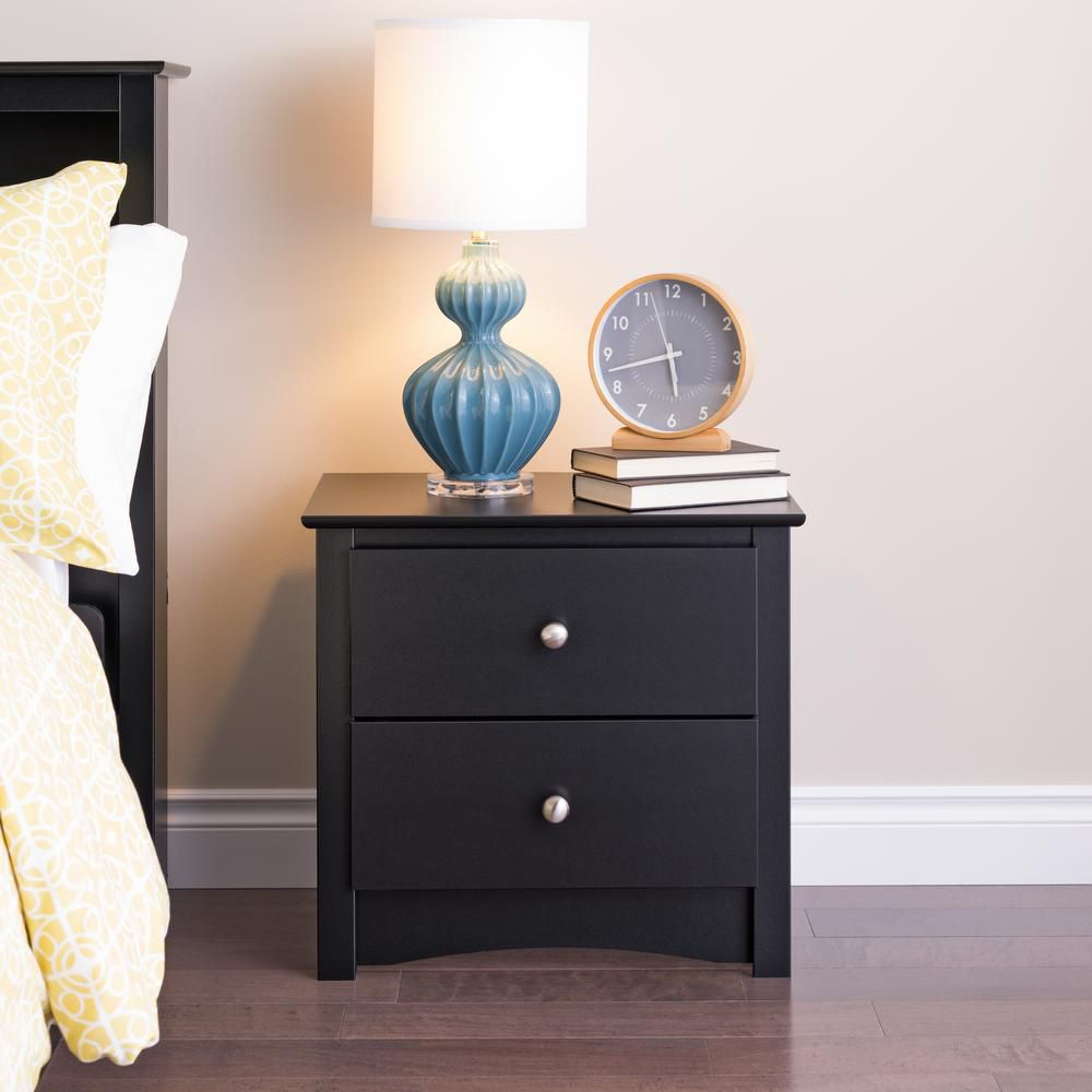 prepac black sonoma drawer nightstand the lacquer accent table white night lamps closet barn doors large lamp shades outdoor home goods dining chairs threshold windham collection