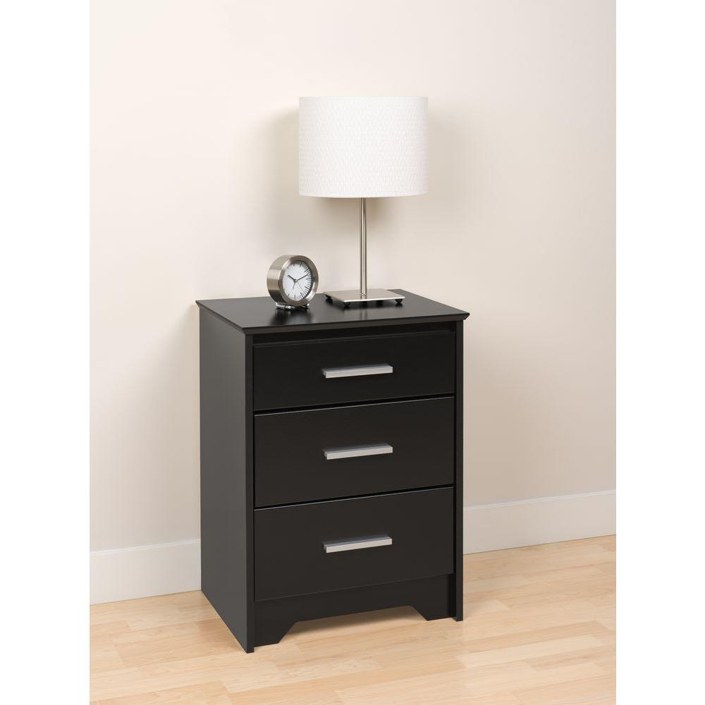 prepac coal harbor drawer black nightstand bch the nightstands room essentials accent table ikea coffee tables and side office chair west elm arc floor lamp large cream wall clock