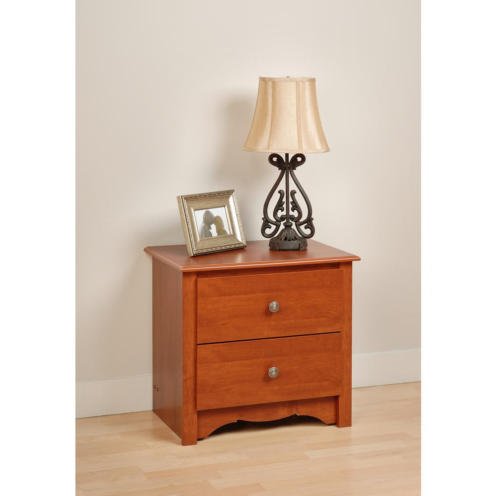 prepac monterey drawer cherry nightstand the nightstands accent table white wine rack holder canadian tire patio furniture clearance light bulb elm ikea box round tablecloth