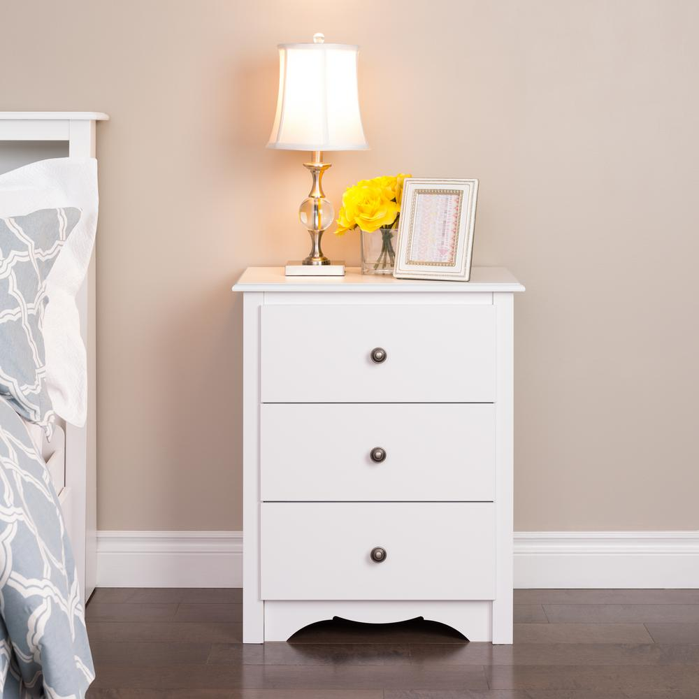 prepac monterey drawer white nightstand wdc the nightstands accent table small rectangle coffee outdoor chair cushions dining room modern dressers toronto drop leaf set farmhouse