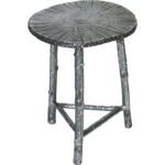prima design source cast aluminum accent table bronze metal tables finish patina tree branch style legs square marble top end concrete console dining and chairs kitchen with 150x150