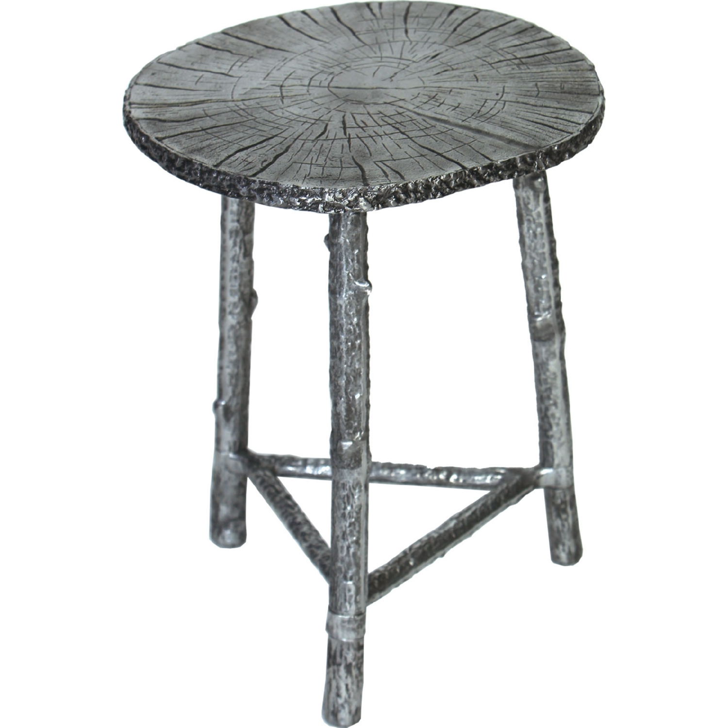 prima design source cast aluminum accent table bronze metal tables finish patina tree branch style legs square marble top end concrete console dining and chairs kitchen with