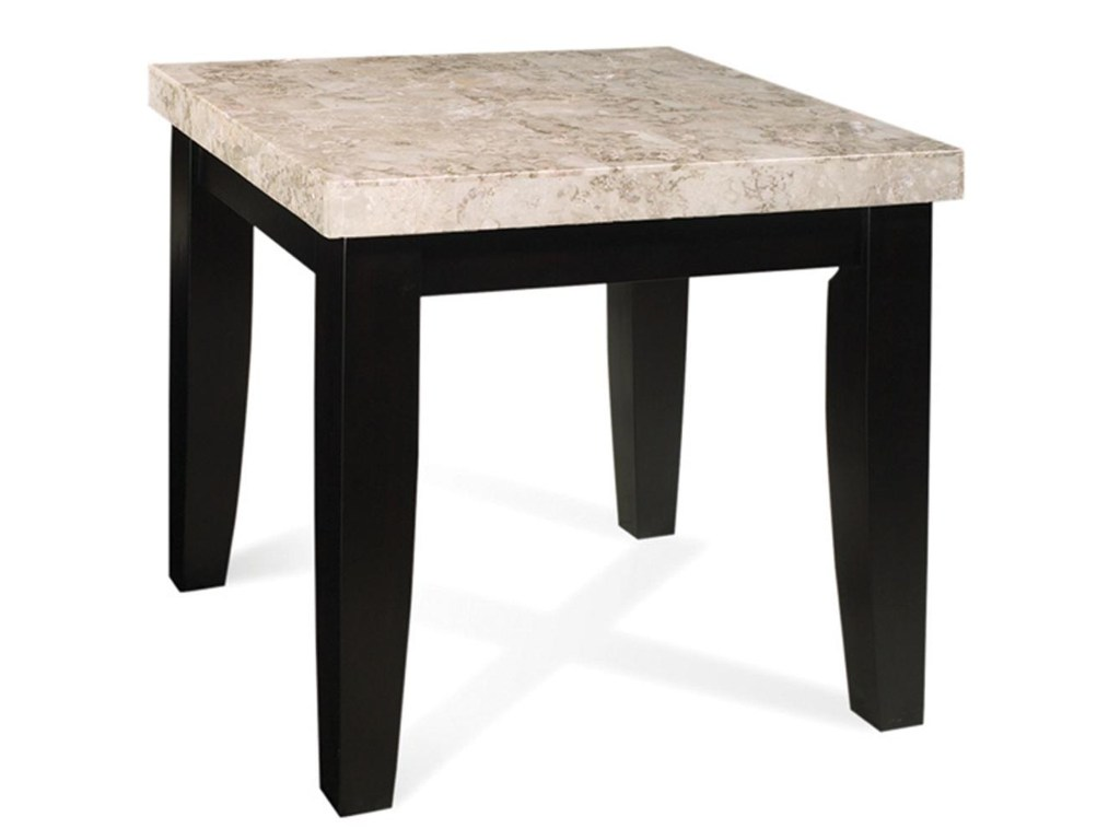 prime monarch marble veneer top end table brothers furniture products steve silver color monarchmc hall console accent cool lamps modern nesting dining small oak side tables for