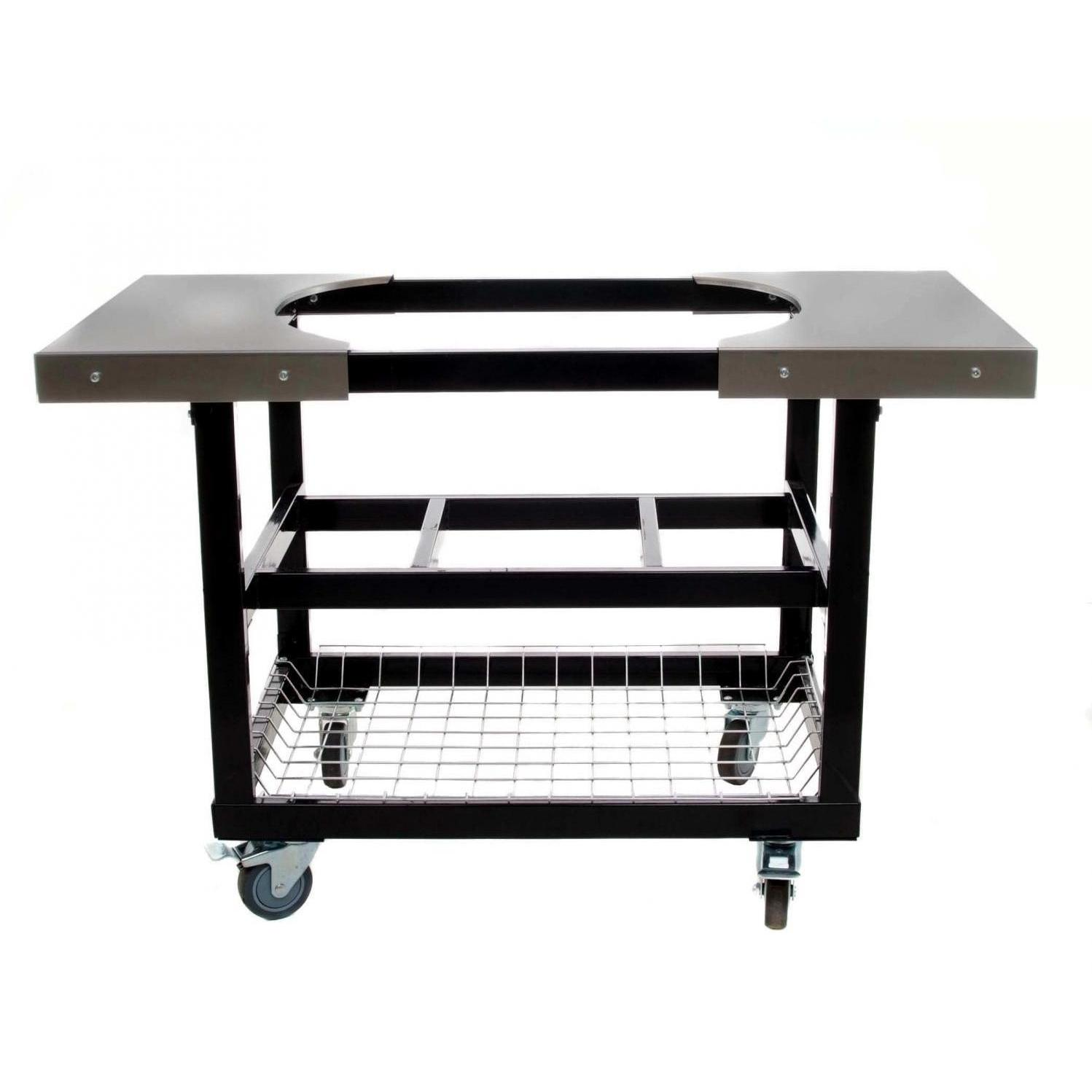 primo steel cart with stainless side tables for oval outdoor table bbq large guys cherry wood and chairs barn door kitchen cabinets couch legs weathered furniture usb port two