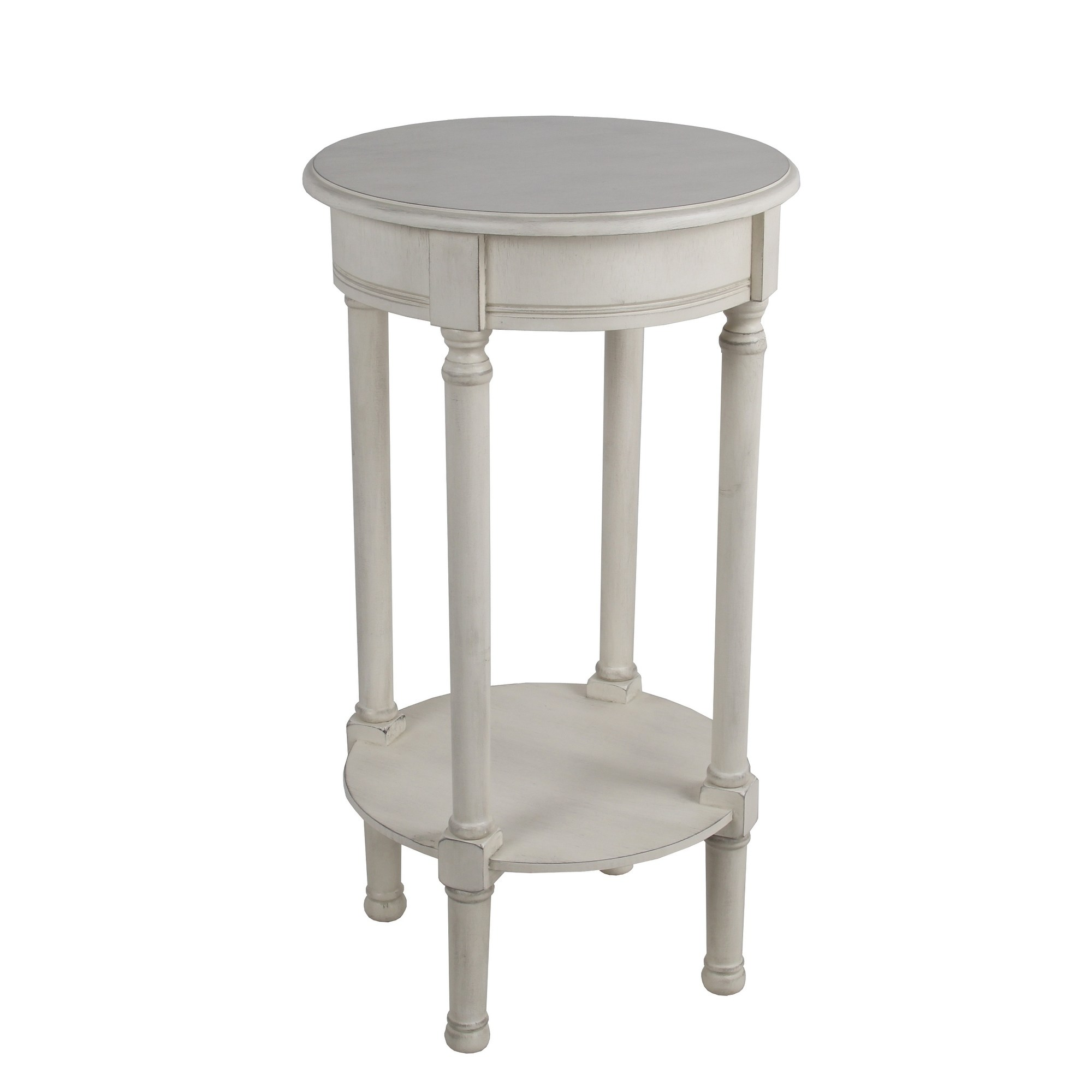 privilege antique pearl round accent table easy assemble tools required free shipping today target patio dining inches high home decorators catalog garage cabinets large umbrella