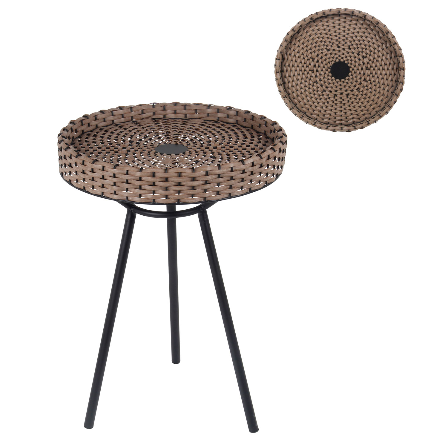 privilege black resin wicker accent table bellacor outdoor hover zoom house decorating ideas tall lamp base lamps with usb and half moon foyer building legs slender console rustic