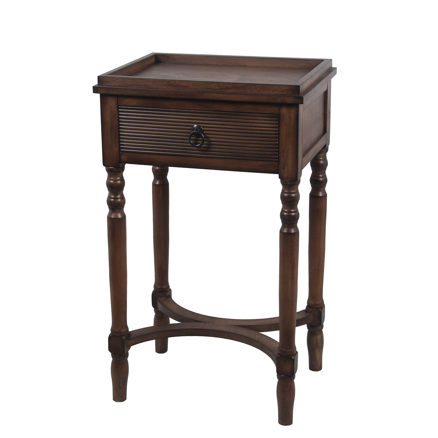 privilege british brown one drawer accent table bellacor hover zoom porcelain lamp round metal garden entryway bench inch tablecloth small red bedroom design contemporary marble
