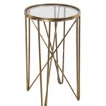 privilege contemporary metal accent table with gold finish rustic chic end tables folding sides antique mahogany side corner unfinished cabinets dining and chairs base only small 150x150