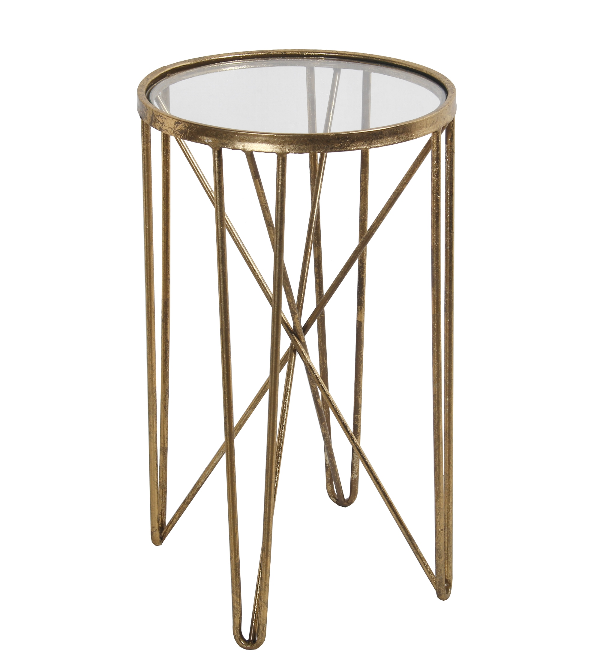 privilege contemporary metal accent table with gold finish rustic chic end tables folding sides antique mahogany side corner unfinished cabinets dining and chairs base only small