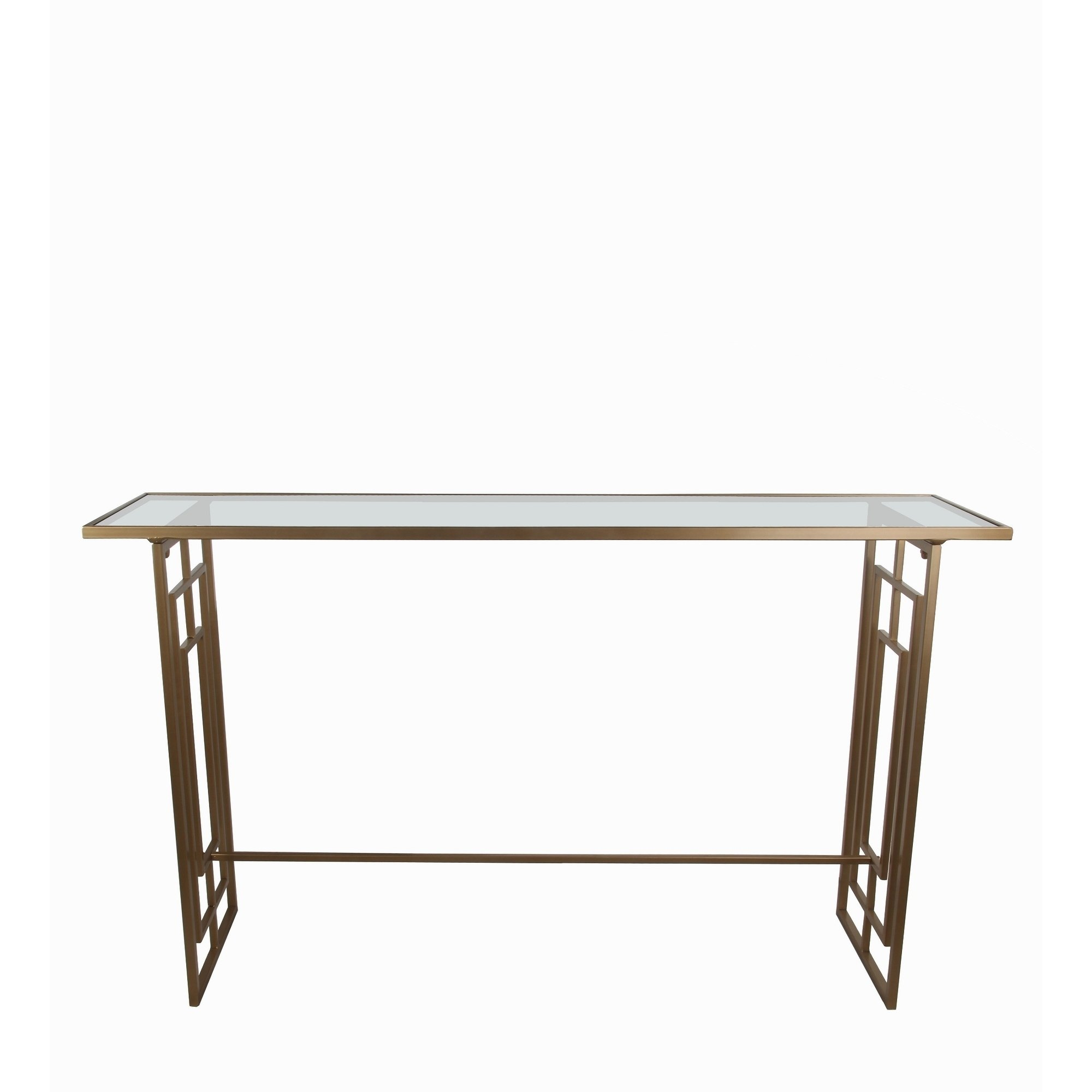 privilege gold finish iron accent console table free shipping today glass bedside square legs bohemian coffee seaside themed lighting black nightstand lucite waterfall funky end