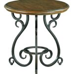 privilege gold iron accent table liked featuring home furniture traditional round with old world cast base mosaic black outdoor manor solid ikea file box small metal patio side 150x150