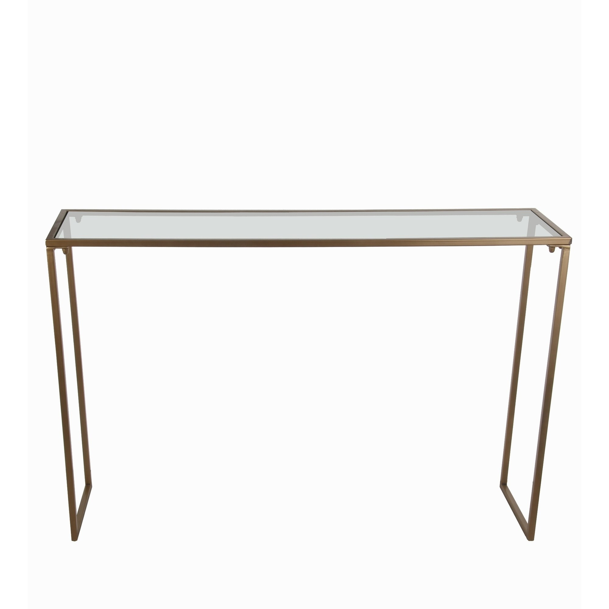 privilege gold iron and glass top accent console table free featuring metal shipping today elegant placemats small round with screw legs stackable outdoor tables replacement