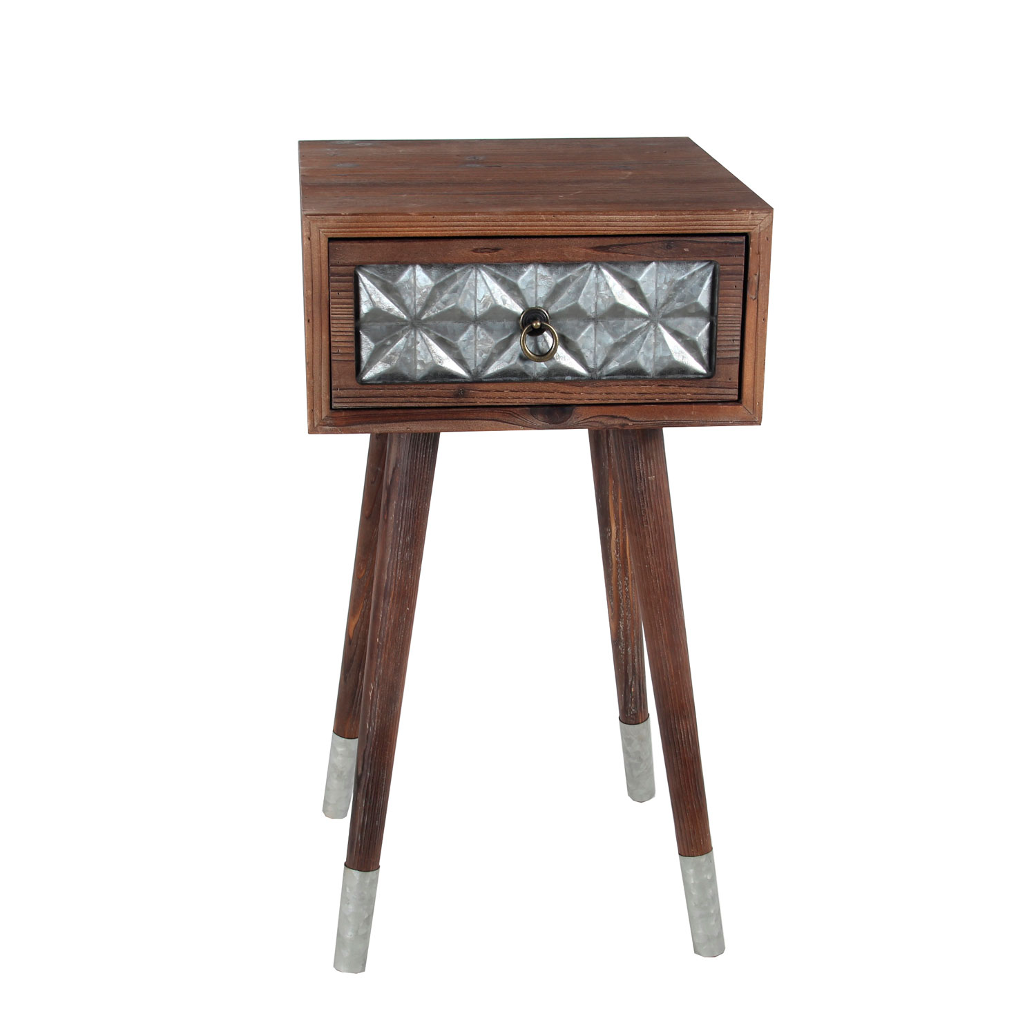 privilege one drawer wood iron accent table bellacor hover zoom contemporary round end small tables black crystal lamp outdoor cement and benches tiffany peacock floor marble