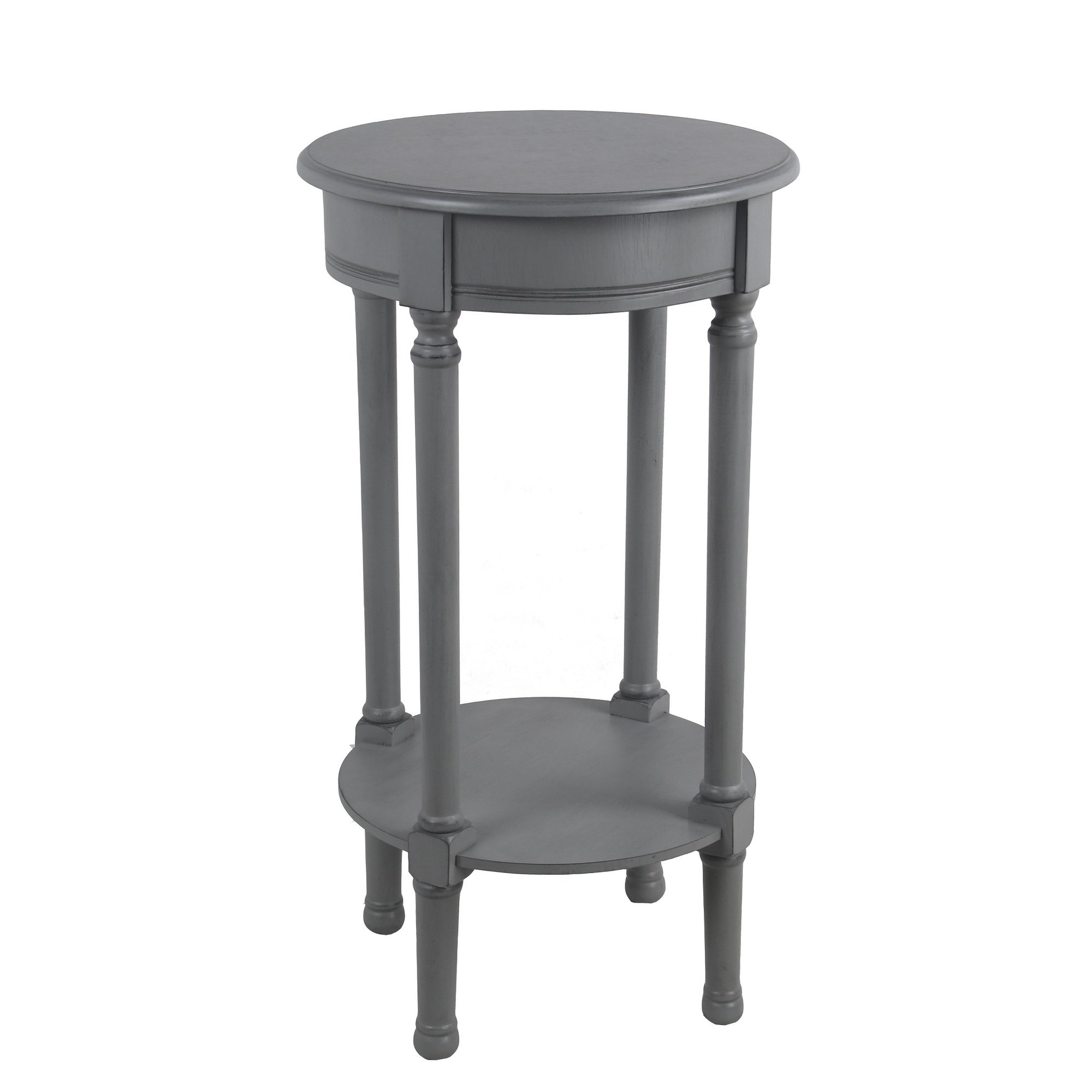 privilege vendee gray round accent table easy assemble tools required free shipping today knotty pine bar stools outdoor top covers dining pedestal base only bedroom mirrors chest