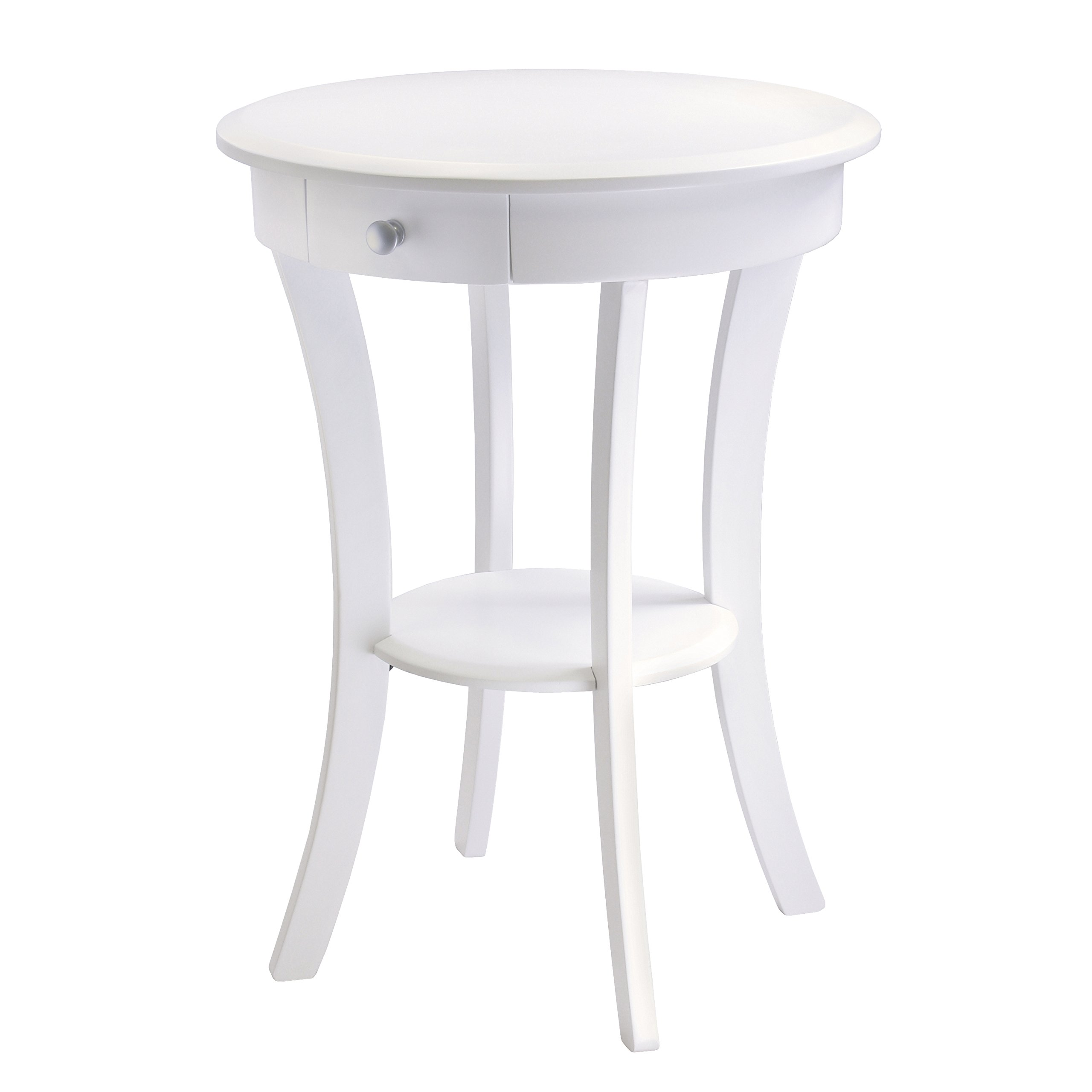 probably fantastic amazing white end table with wood top mira winsome sasha accent drawer curved legs finish bedroom stools argos modern dining furniture half round console