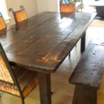probably outrageous beautiful rustic dining table and chairs ideas lovely wooden bench reclaimed wood with amusing room set seating corner kitchen dinning affordable centerpiece 150x150