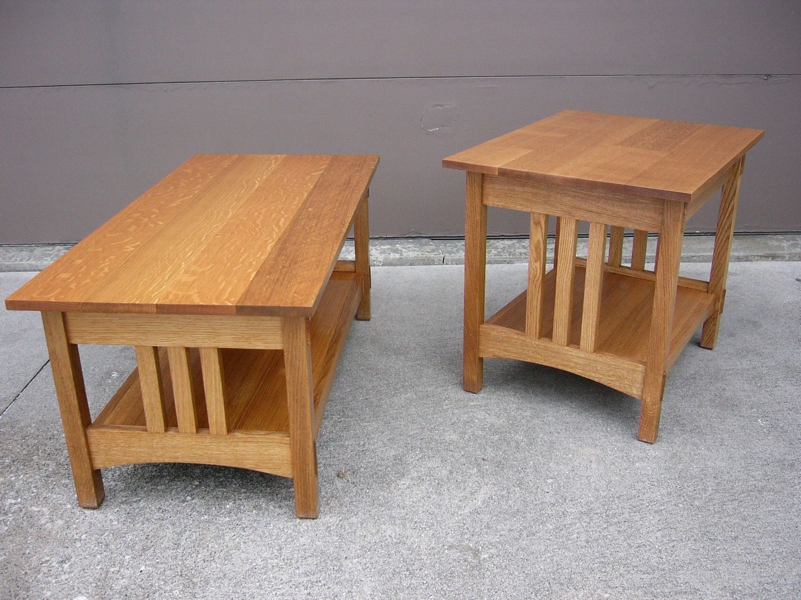 probably outrageous nice oak coffee and end table sets mira handmade quartersawn mission style custom made tall skinny tables small oval side office furniture slim glass floor