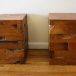probably outrageous real unfinished solid wood end tables idea chairs stunning landmark table accent industrial salvaged side ked vintage wide cube cherry with drawers block round 150x150