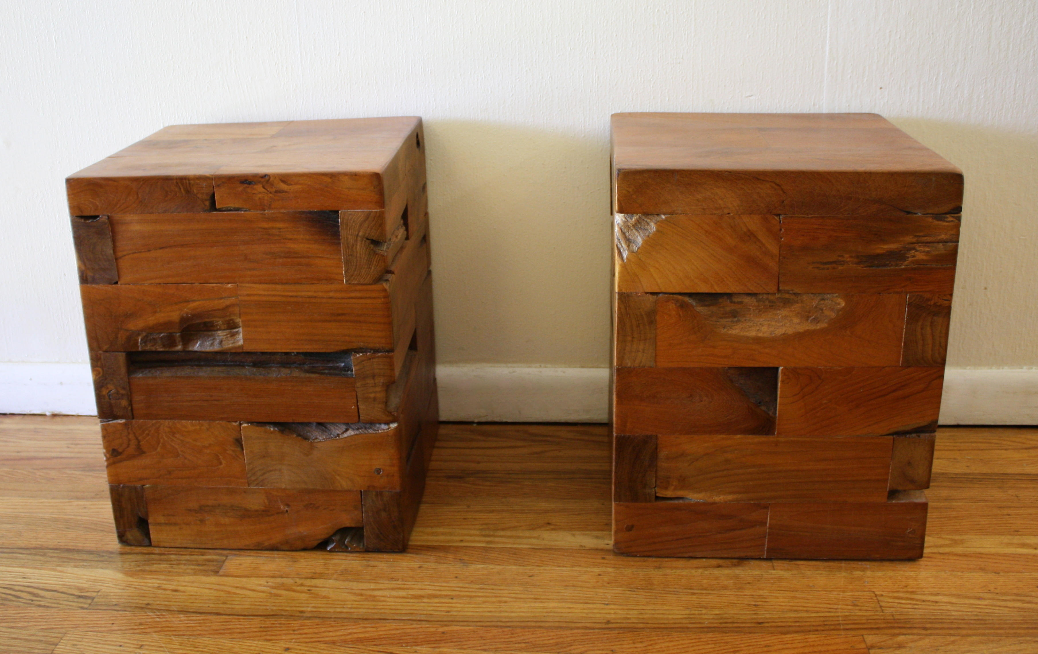 probably outrageous real unfinished solid wood end tables idea chairs stunning landmark table accent industrial salvaged side ked vintage wide cube cherry with drawers block round