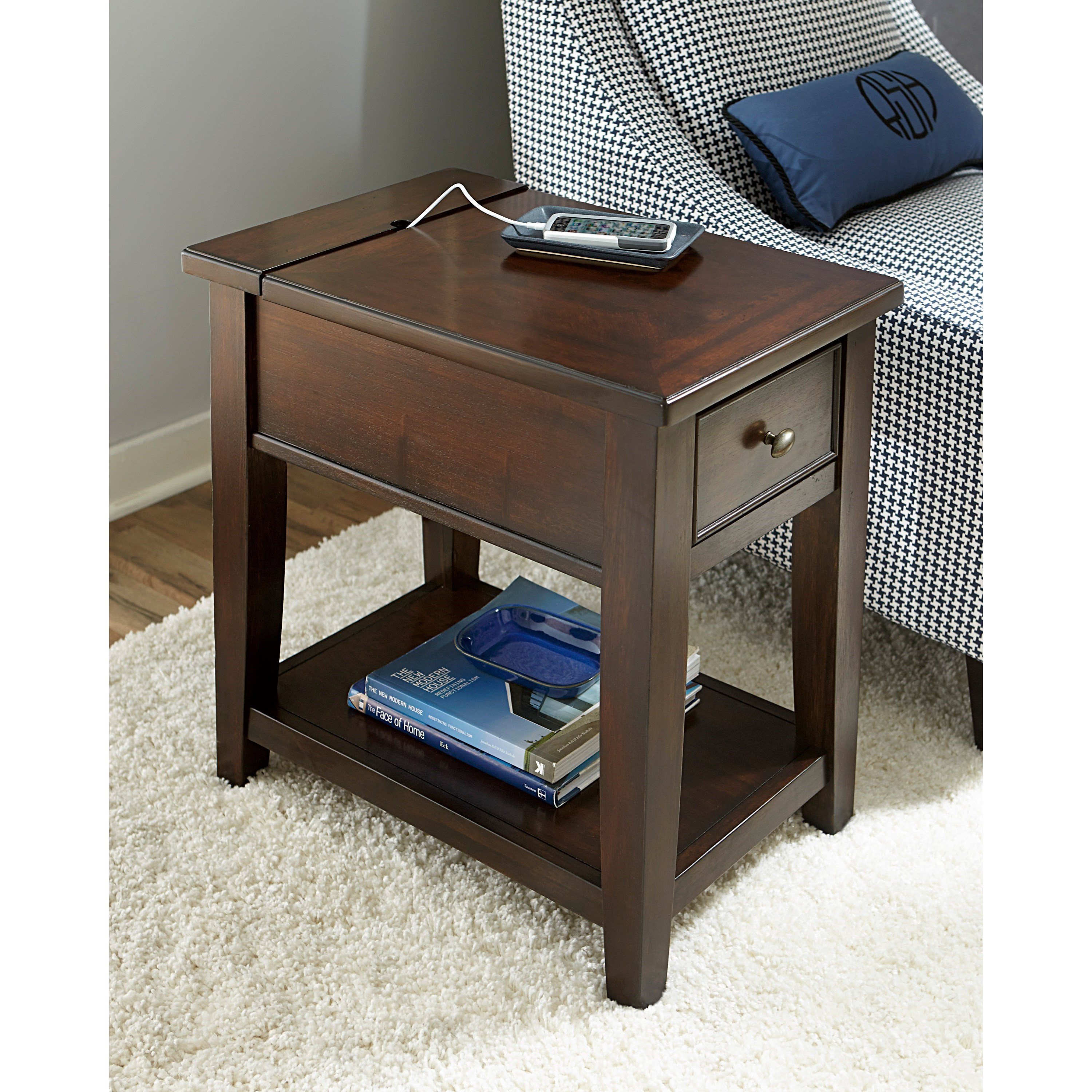probably outrageous real vanderbilt nightstand end table with usb broyhill chairside power strip coffee ports bath and beyond folding side massage recliner chair badcock website