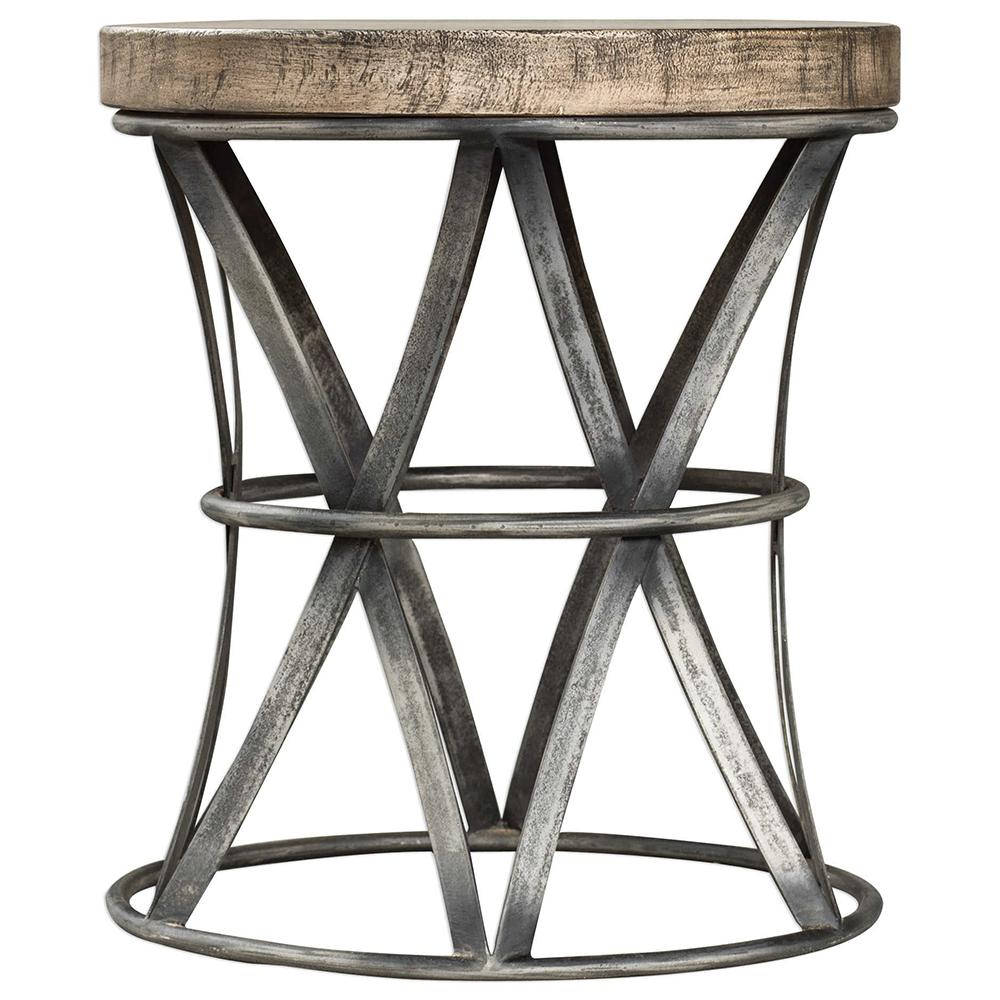 probably perfect fun drum shaped end table gallery mira road iron wood accent stool scenario home wooden bedside cabinets ashley furniture leather couch marble top sofa outdoor