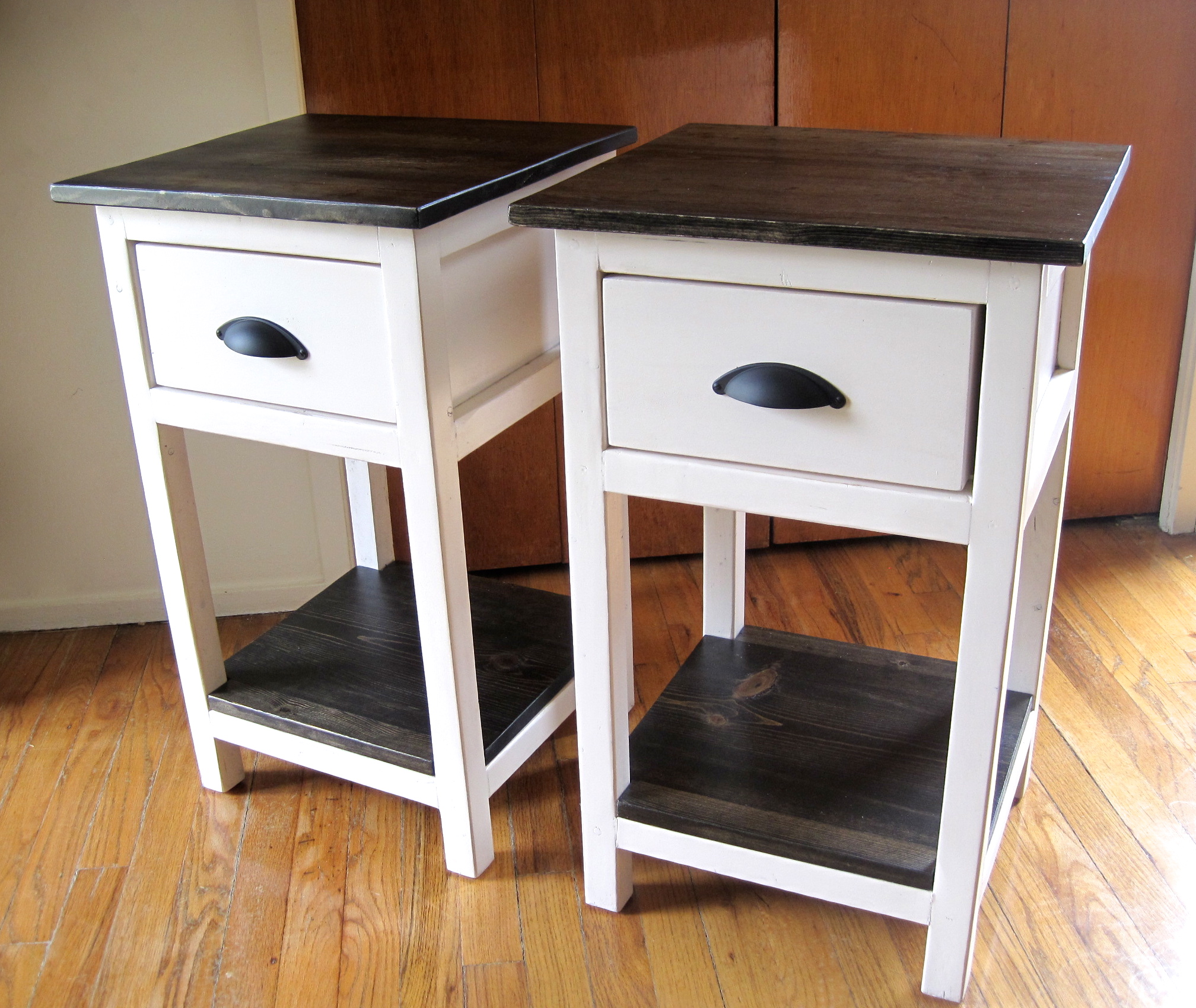 probably perfect unbelievable rustic wood and metal nightstand idea ana white narrow end table with basket storage small baskets save more space back thin coffee accent sofa side