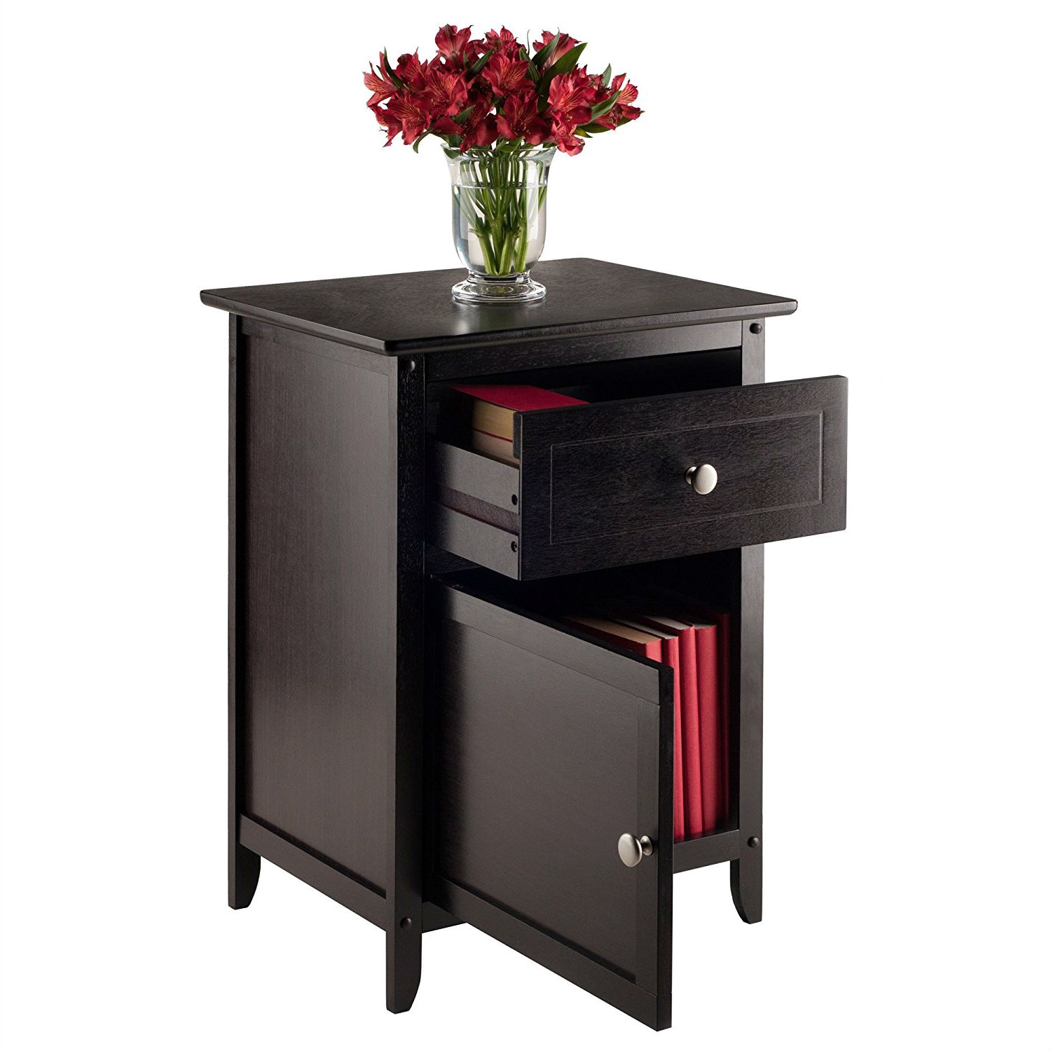 probably super beautiful winsome wood end table nightstand with espresso accent fastfurnishings drawer and shelf natural sears coffee clock tables out pallets contemporary living