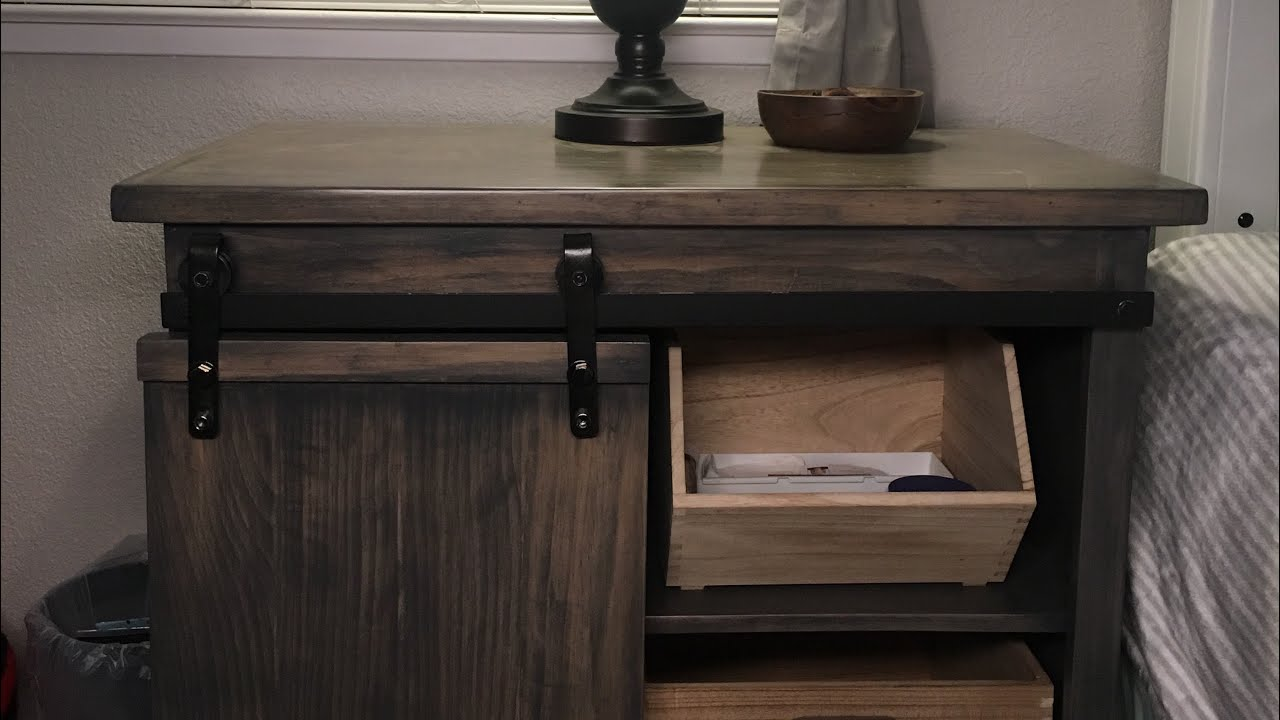 probably super free end table with barn door jockboymusic diy barndoor nightstand tutorial unfinished wood dining legs narrow oak side carolina panthers jacket tables for living