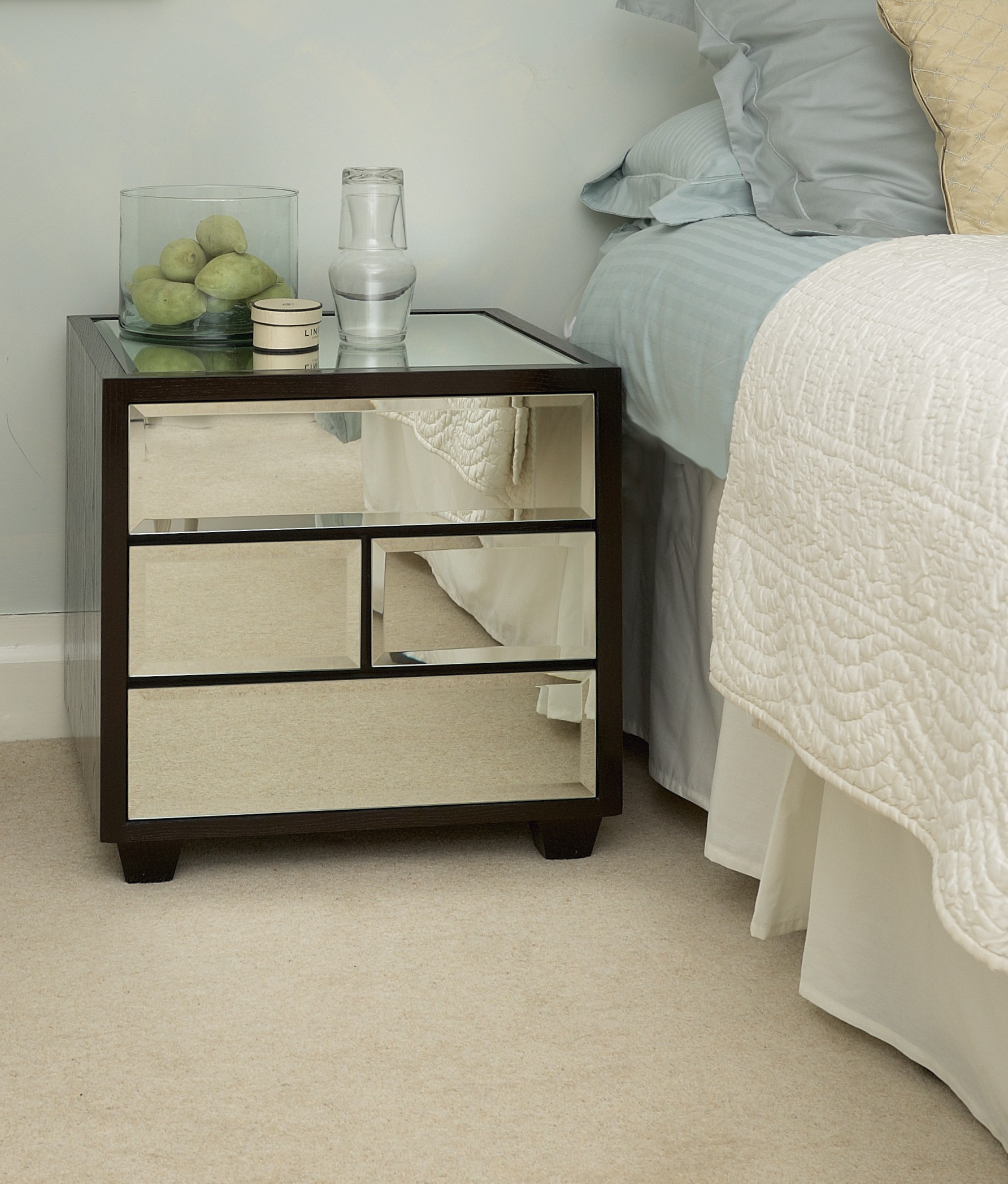 probably super great metal bedroom nightstands gallery hotxpress nightstand mirrored with four drawers for chic furniture ideas round dresser stand mirror cool wooden bedside