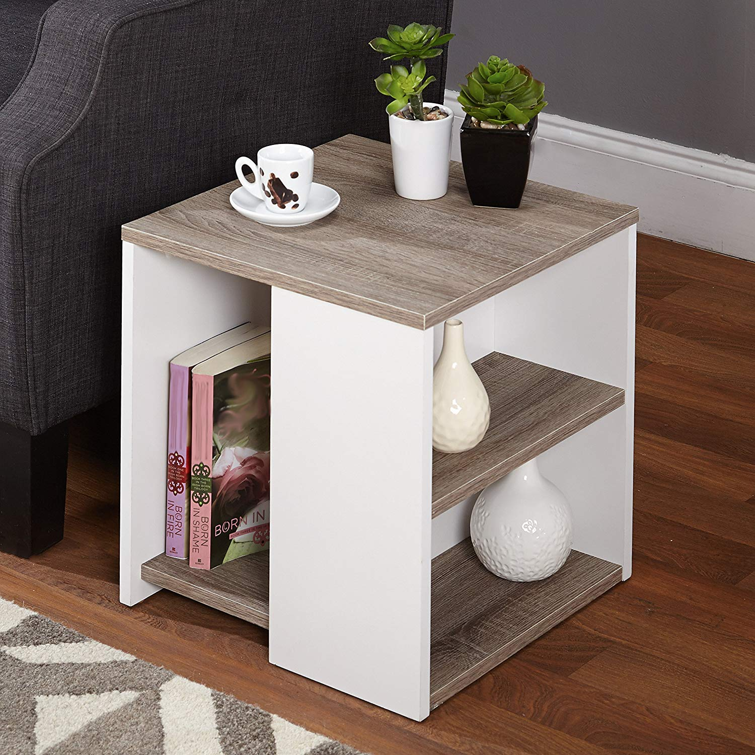 probably terrific great white oak end table mira road simple living urban sonoma kitchen tlhfl dining black wood and glass desk furniture hidden drawer nightstand small accent