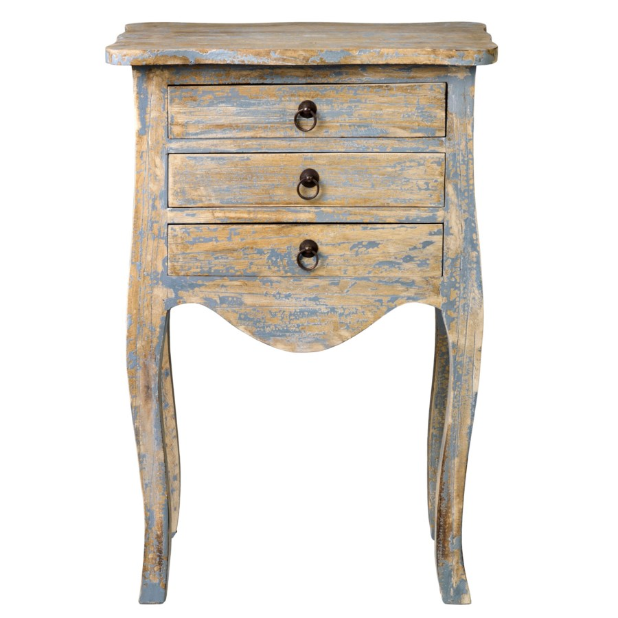 promenade painted drawer accent table antique grey tables chests quality lamps white lamp base french oak furniture brass nautical lights target hexagon couch arm granite top end
