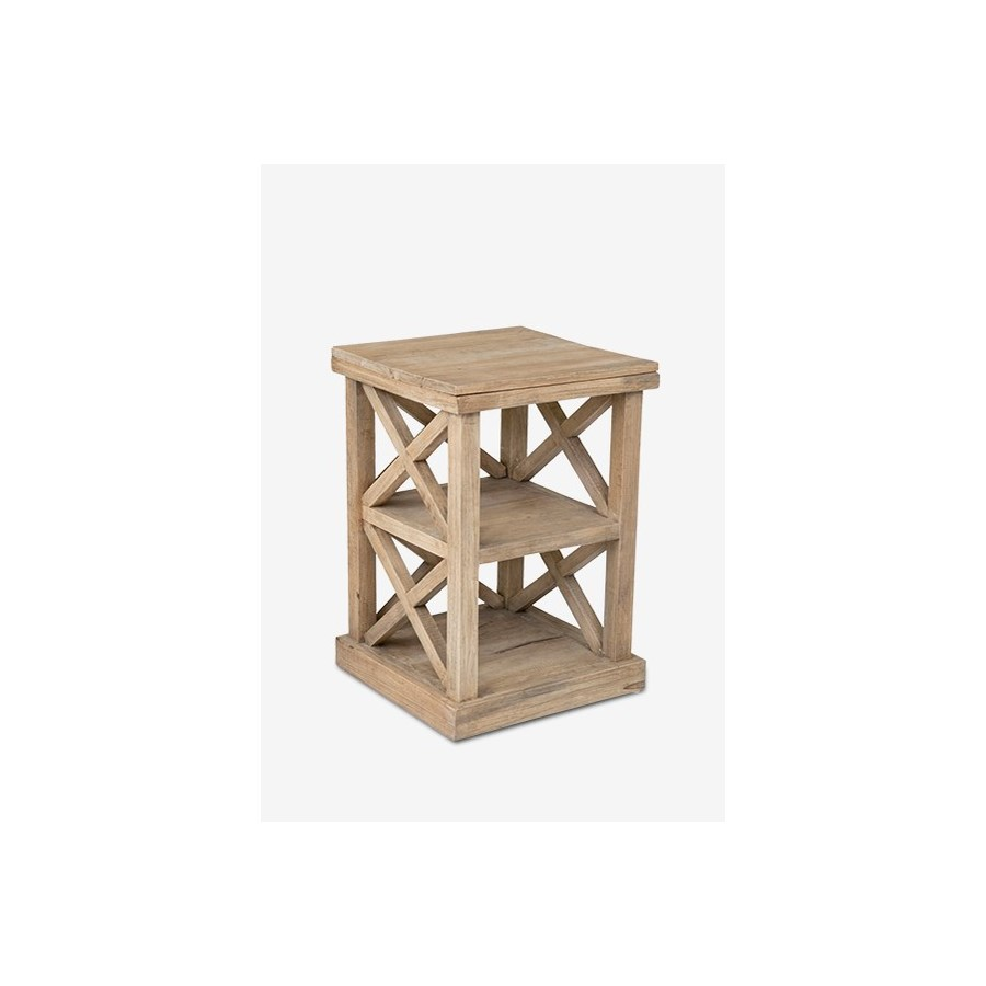 promenade tall cross side table accent tables drum chair gray wash coffee ikea patio reclining narrow sofa wood metal end room essentials wardrobe west elm art lawn with umbrella