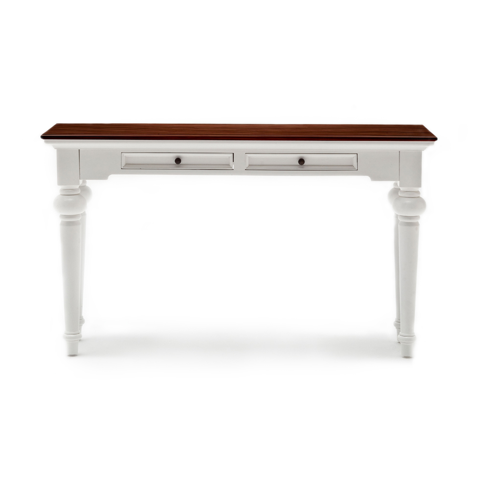 provence accent solid mahogany console table hygge home with drawers rustic elegant decor short furniture legs copper desk lamp entry hall chests family room clear acrylic pottery