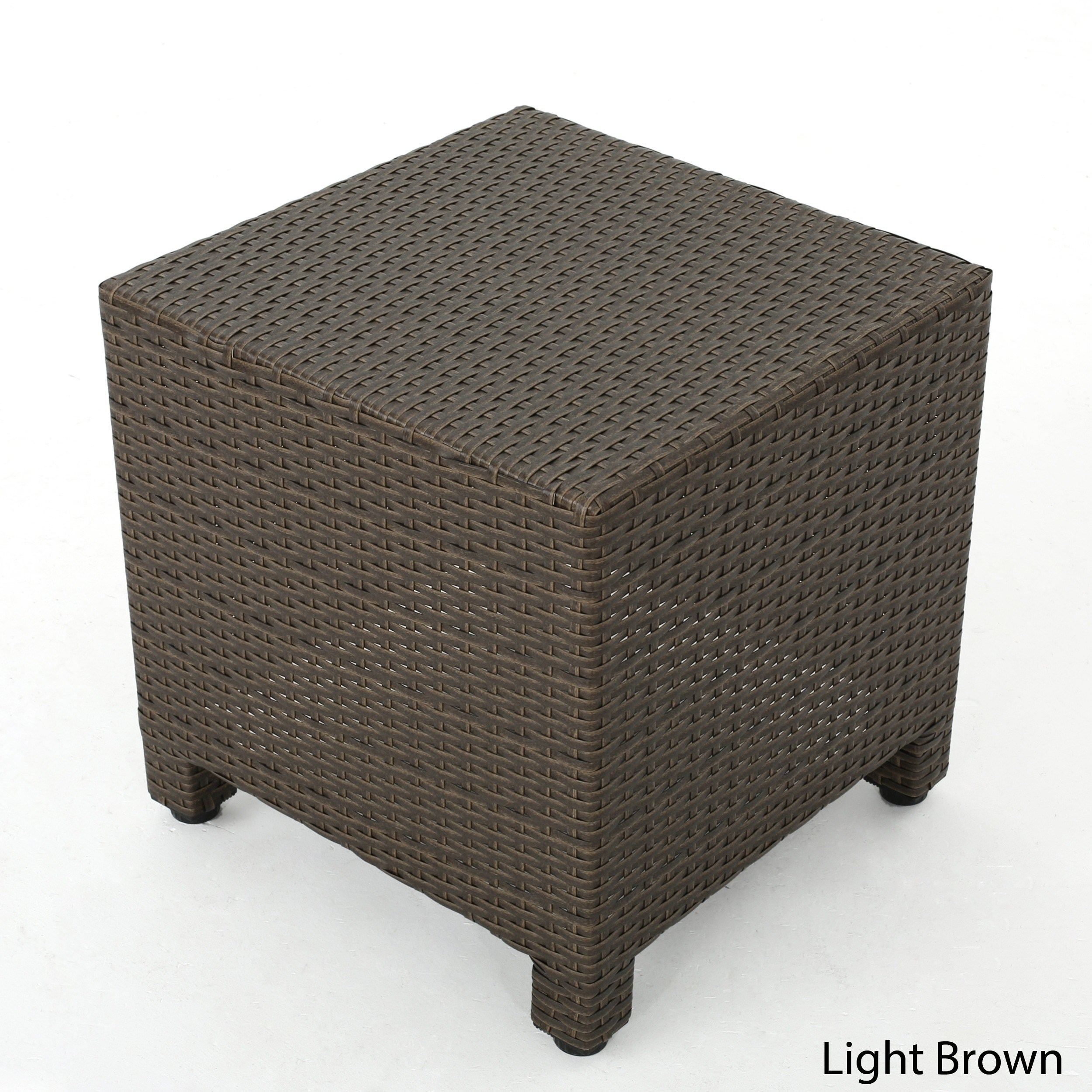 puerta outdoor wicker square accent side table christopher knight home free shipping today folding bistro hot water heater tables for small spaces with basket drawers pub style