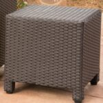 puerta outdoor wicker square accent side table christopher knight home with storage free shipping today vintage tier grey dining room black and white glass lamp tables mosaic 150x150