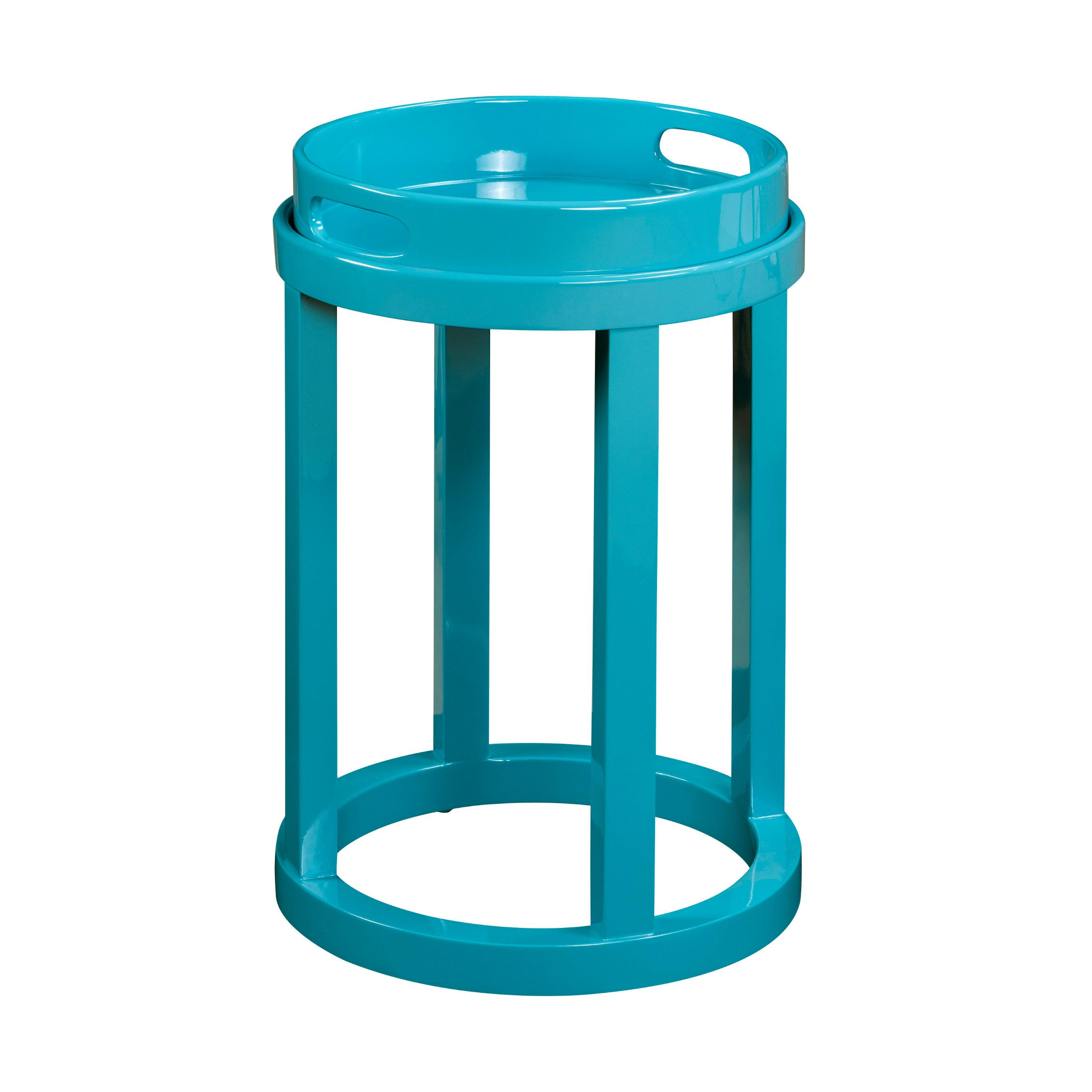 pulaski blair round accent table aqua blue lacquer knotty pine dining set silver drum side contemporary chandeliers small tablecloth patio bistro wrought iron end tables plastic