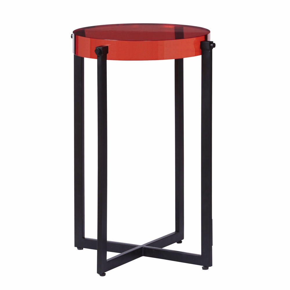 pulaski emmett red acrylic accent table hover zoom collapsible side chrome door threshold lucite waterfall coffee wood and metal nesting tables hardwood all glass wedding covers