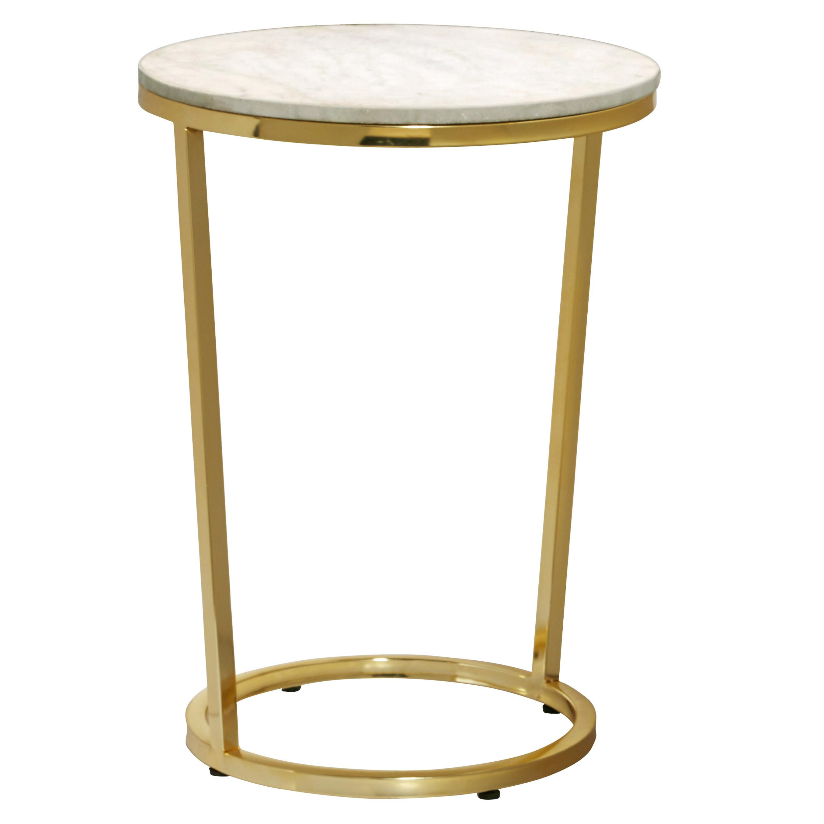 pulaski emory marble top round accent table with steel furniture legs dorm room decor shabby chic wine rack cabinet garden and chairs half moon entry bedside tray high corner