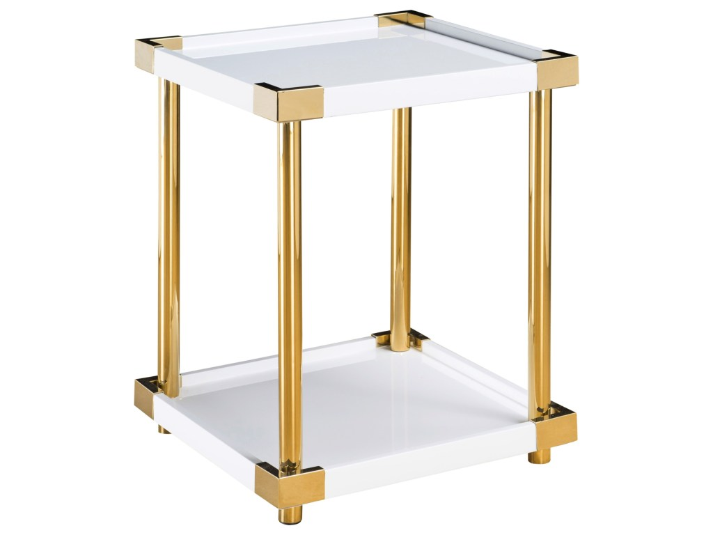 pulaski furniture accents arlene accent table with gold finished products color threshold posts round end tables small side marble top outdoor sconce lights retro sofa west elm