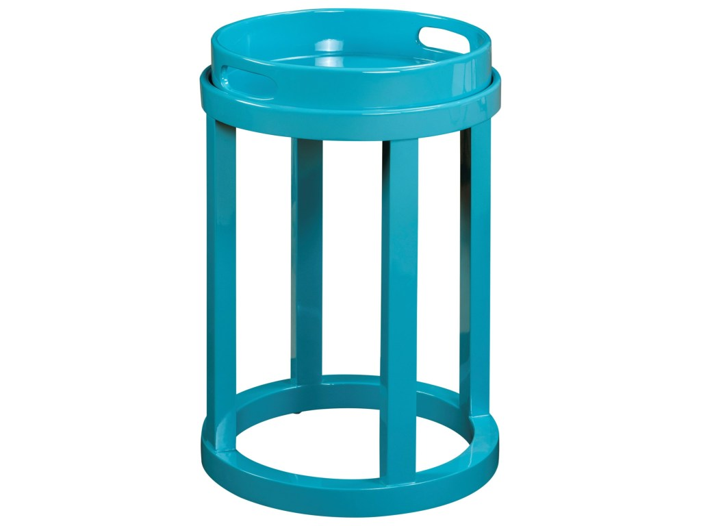 pulaski furniture accents blair accent table high sheen products color teal blue finish target lounge chairs tall with stools small designer coffee tables bronze glass diy patio