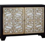 pulaski furniture accents finesse accent console with wine products color table rack accentsfinesse grey bedside lights xmas runners bronze drum coffee high end side tables 150x150