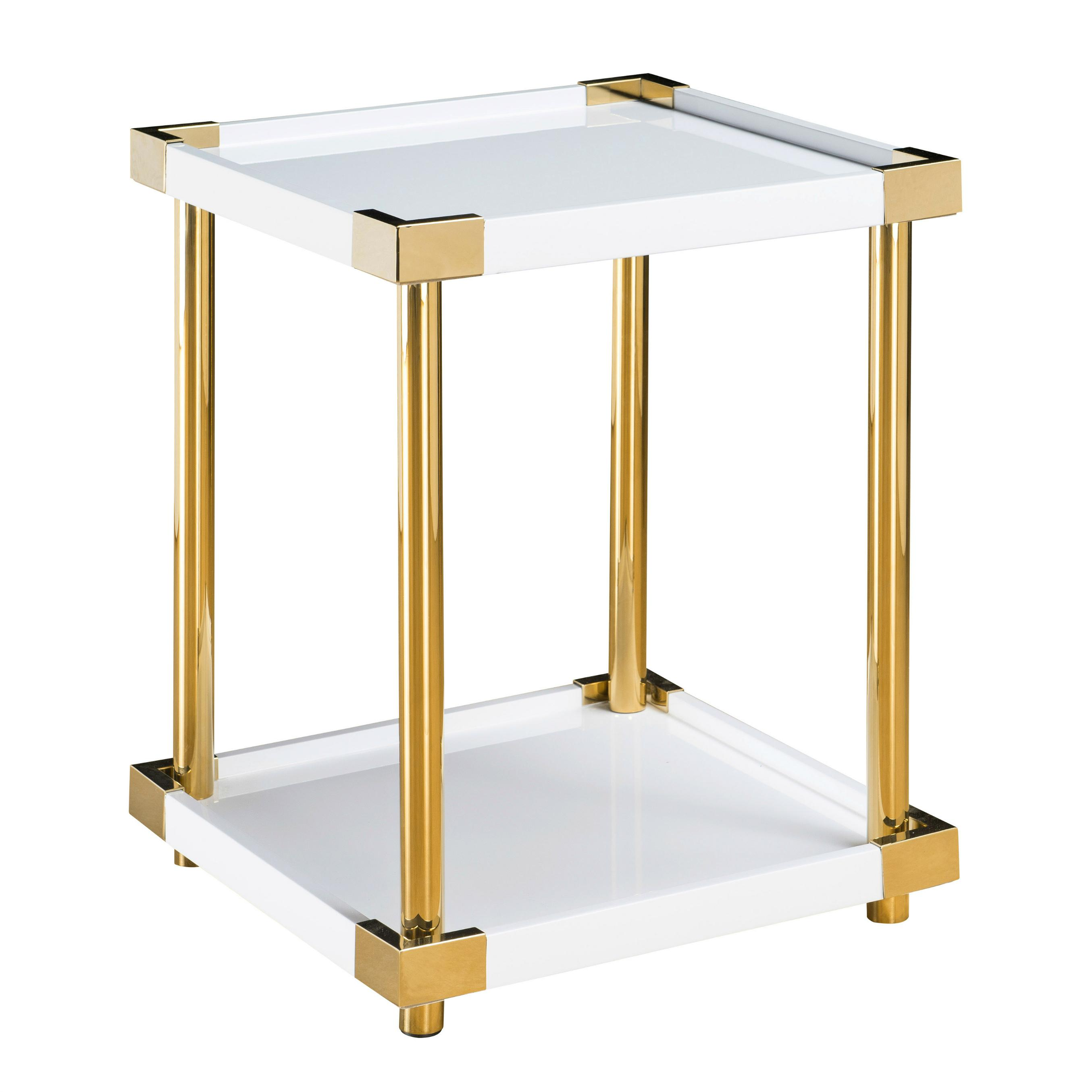 pulaski home comfort collection ariene square accent table modern gold white marble metal gray nautical bathroom ideas small top coffee pub set mainstays replica furniture side
