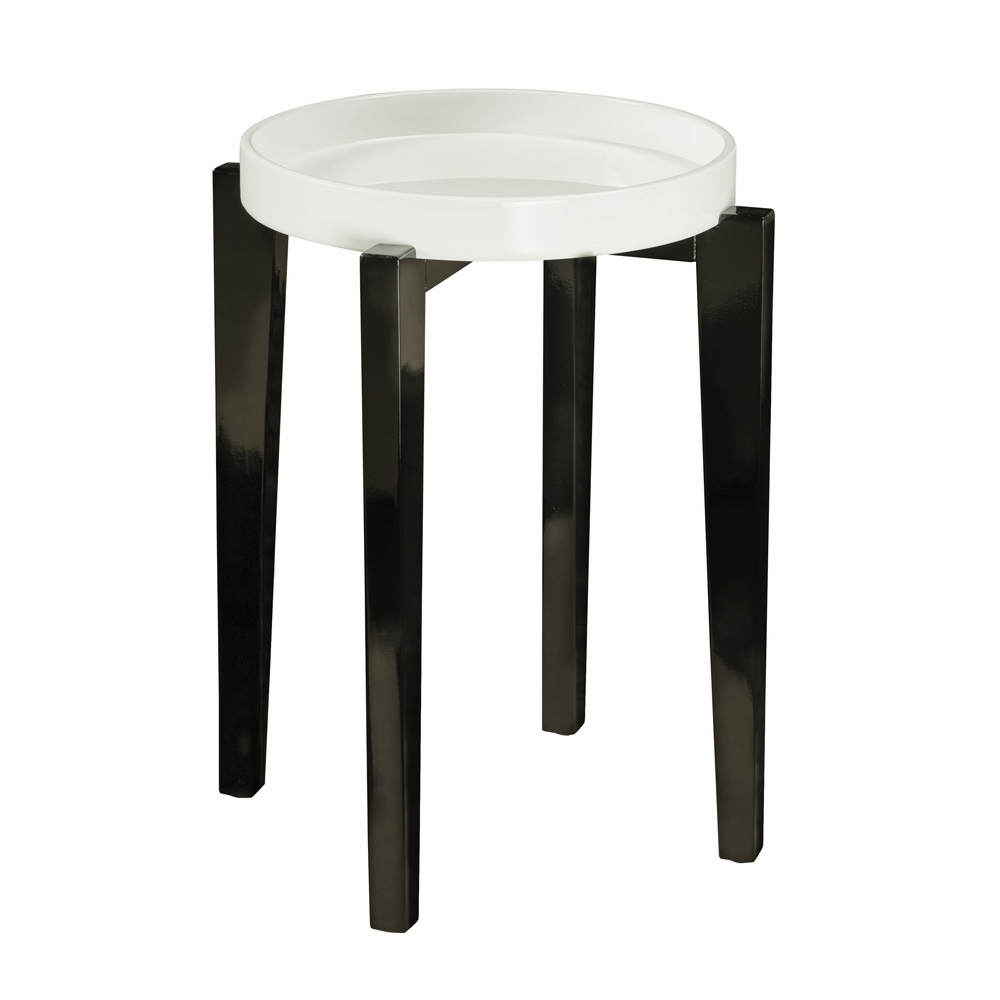 pulaski mallory black white lacquer accent table hover zoom decorating console entryway industrial outdoor furniture cushions target mirrored side with drawer blue pier one art