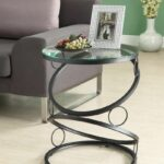 purchase our matte black metal accent table with tempered glass tables toronto furniture freeshipping ikea round macys coffee mango bookcase new vintage outdoor and chairs small 150x150