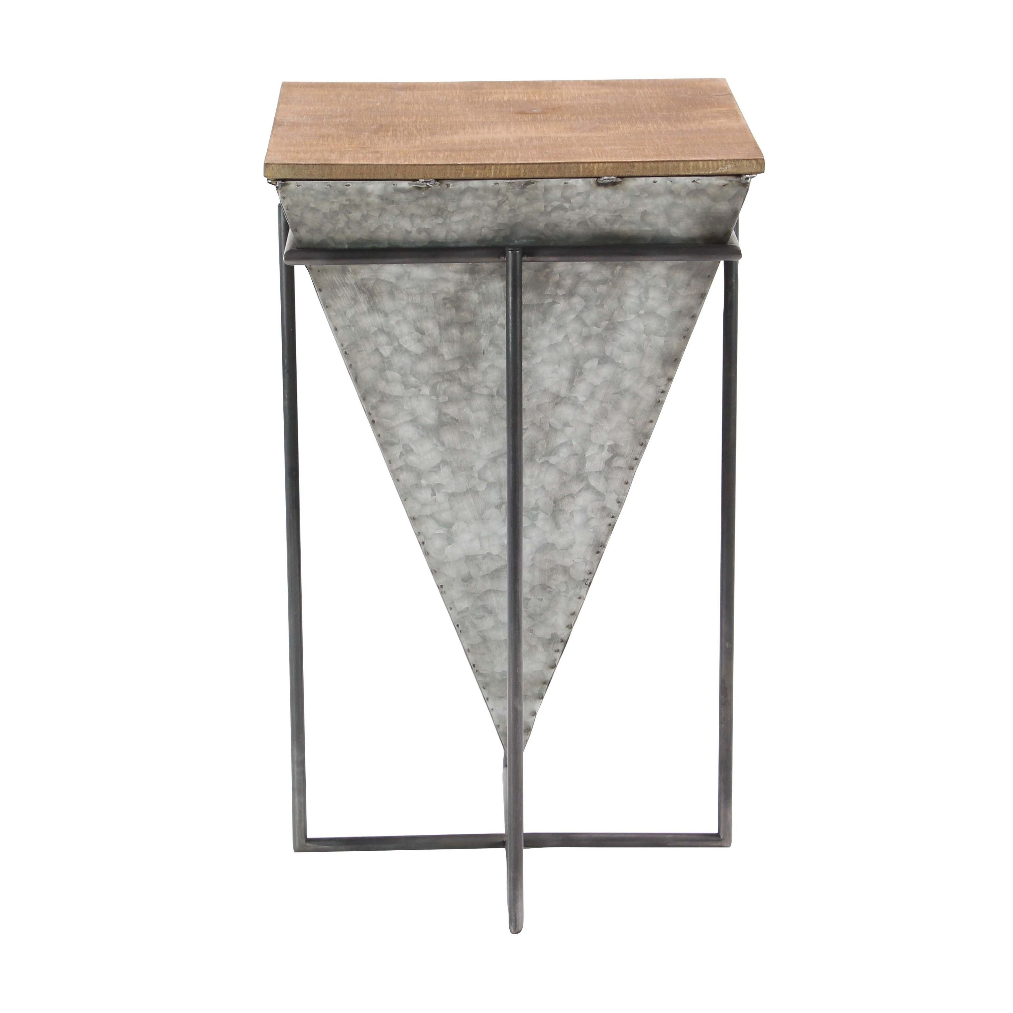 pyramid end table design ideas modern inverted iron and wood accent mirrored free small kitchen lamp home wall decor black dining room furniture piece living set espresso with