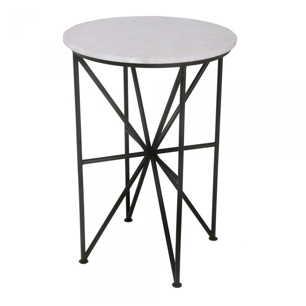 quadra marble iron accent table vintage home charlotte trestle pedestal dining dorm room decor oriental ginger jar lamps ice cooler bar chairs under industrial cart coffee half