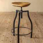 quarry barstool accent table hand forged iron stool with sculpted wood seat leather dining room chairs metal lamp small lights battery operated dewalt outdoor sofa set black 150x150